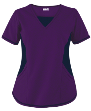 86f0e7570cf Butter-Soft Scrubs by UA™ New & Improved V-Neck Top with Stretch Panels  Enjoy the same great fit, with new and improved STRETCH side panels!