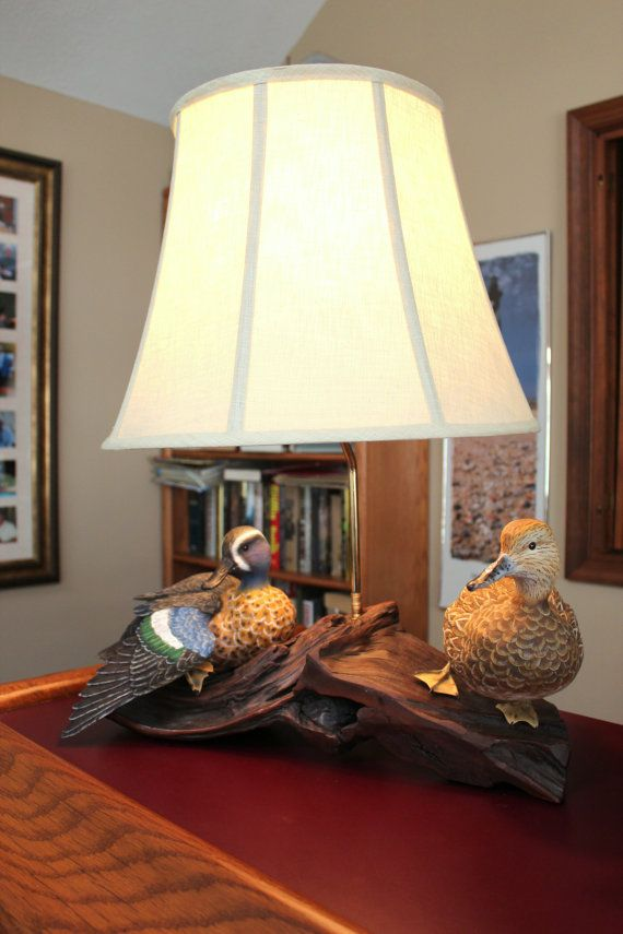 Duck Carving Lamp Hand Carved Blue Wing Teal By Www