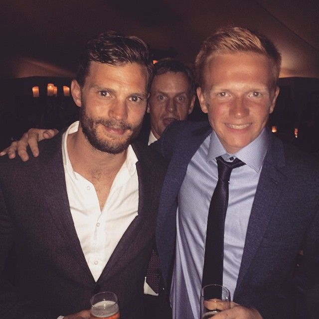 Jamie with a fan at the ADL Gala Dinner at St Andrews. October 03, 2015 http://www.everythingjamiedornan.com/gallery/thumbnails.php?album=72