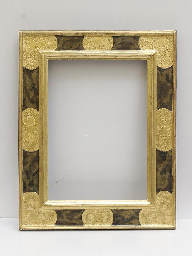 antiguo marco pan de oro, marco en oro fino, pan de oro, oro fino ...