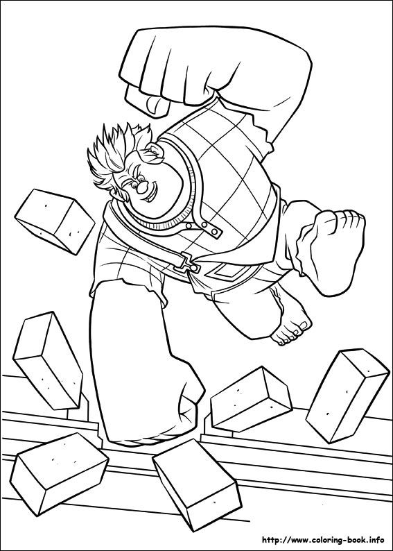 Wreck-It Ralph coloring picture | Wreck it Ralph | Pinterest ...