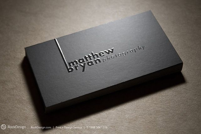 Get Inspired From This Awesome Black Embossed Business Card Example Created For Matthew Bryan Photography
