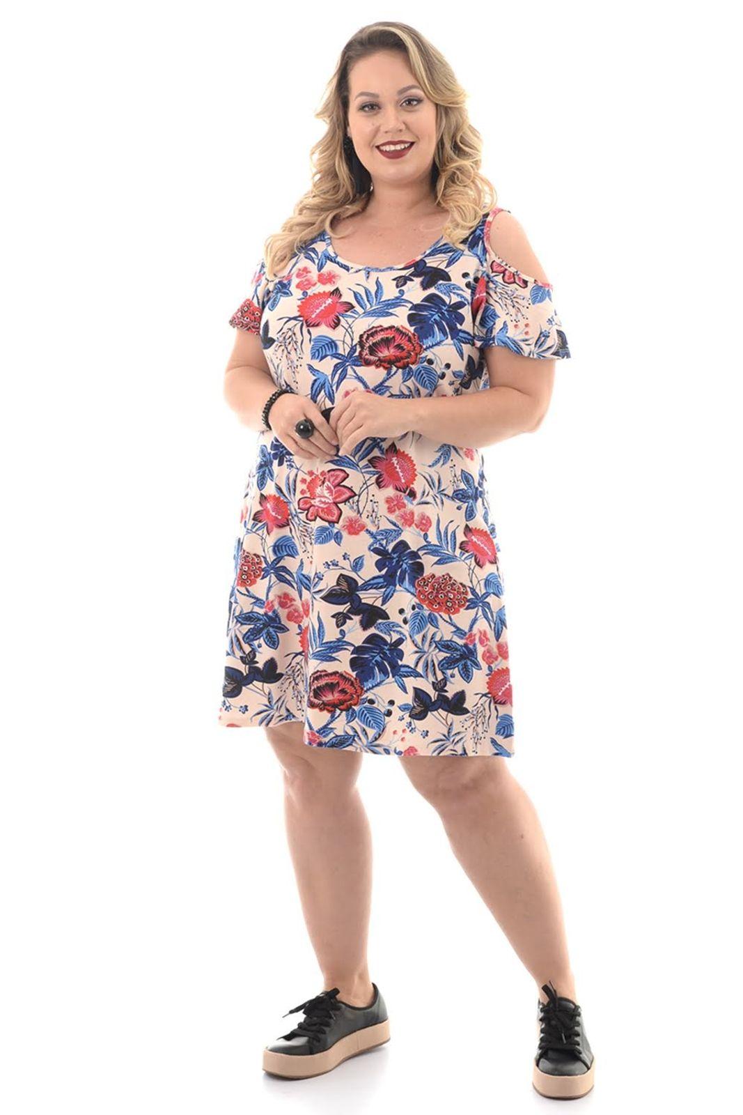 a7cfc54997f1 Vestido Domenica Solazzo Florais Plus Size em 2019   Products ...