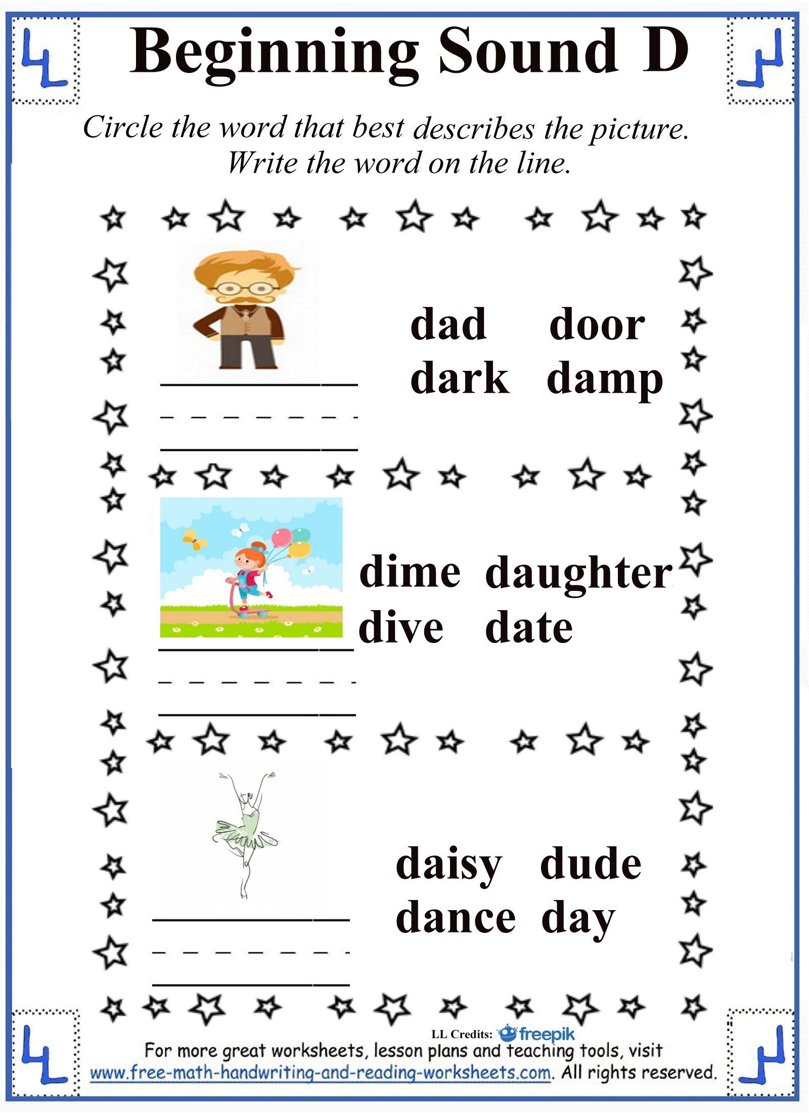 D Letter Worksheets