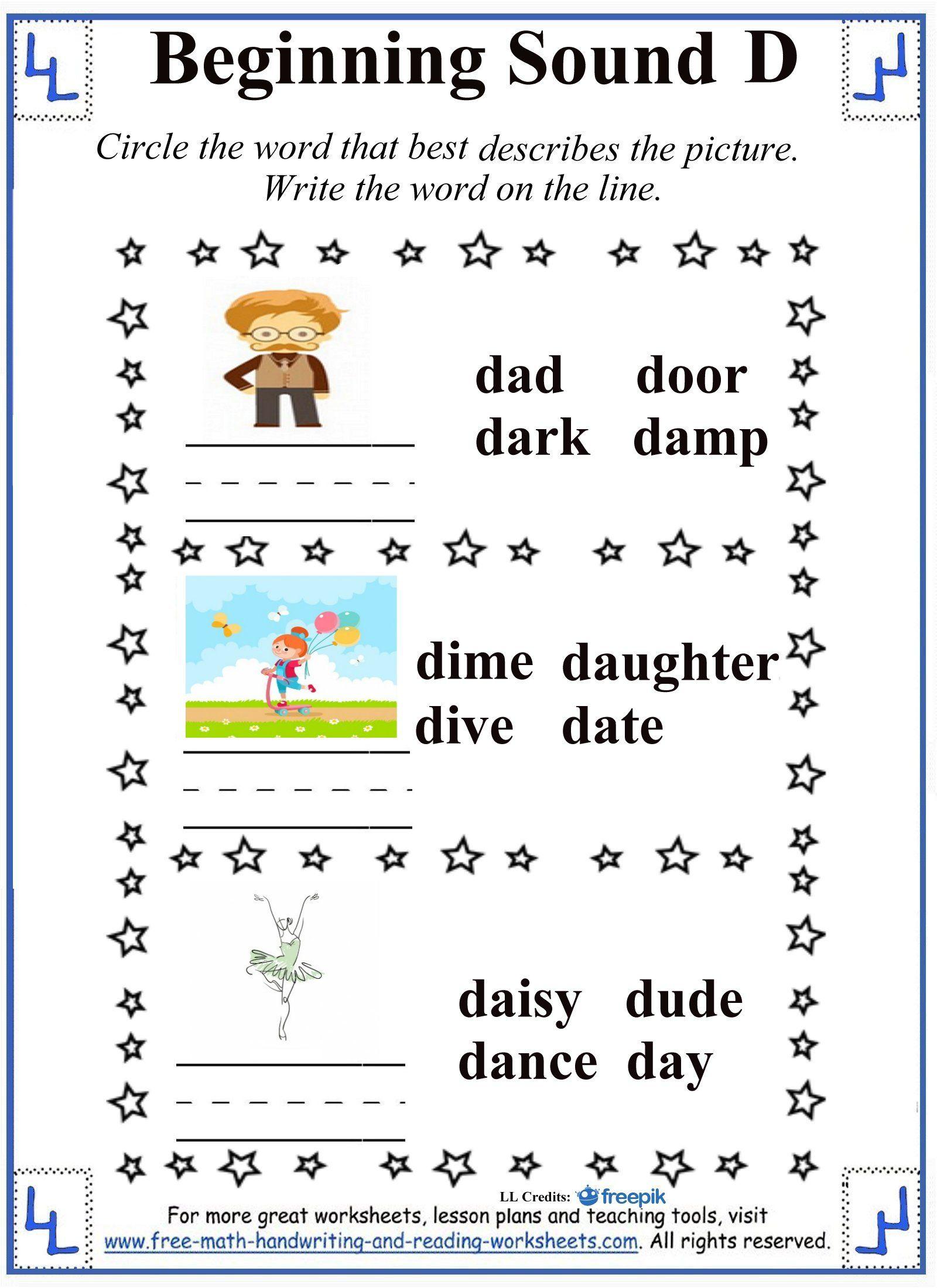 D Letter Worksheets Reading Worksheets Teaching The Alphabet Letter Worksheets [ 2200 x 1600 Pixel ]
