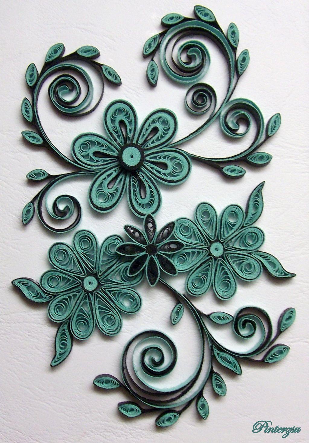 Quilled Flowers By Pinterzsuiantart On Deviantart