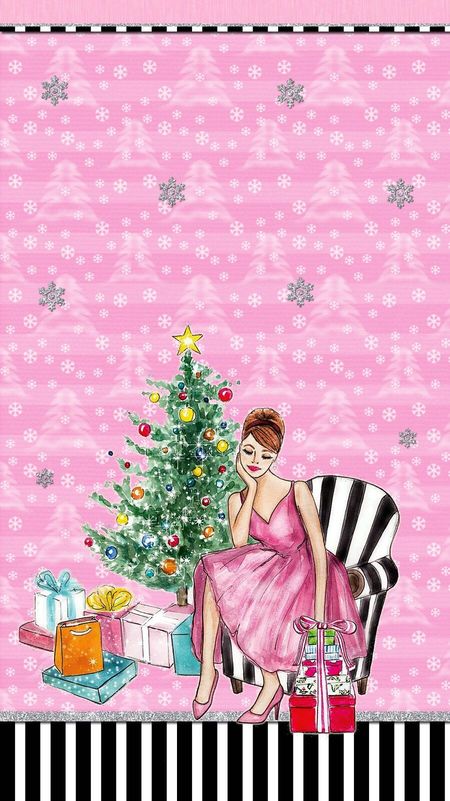 Xmas Girl Wallpaper Iphone Android Theme Holiday