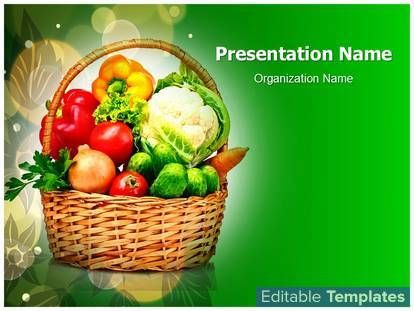 Vegetable Basket PowerPoint design template This #PowerPoint #theme