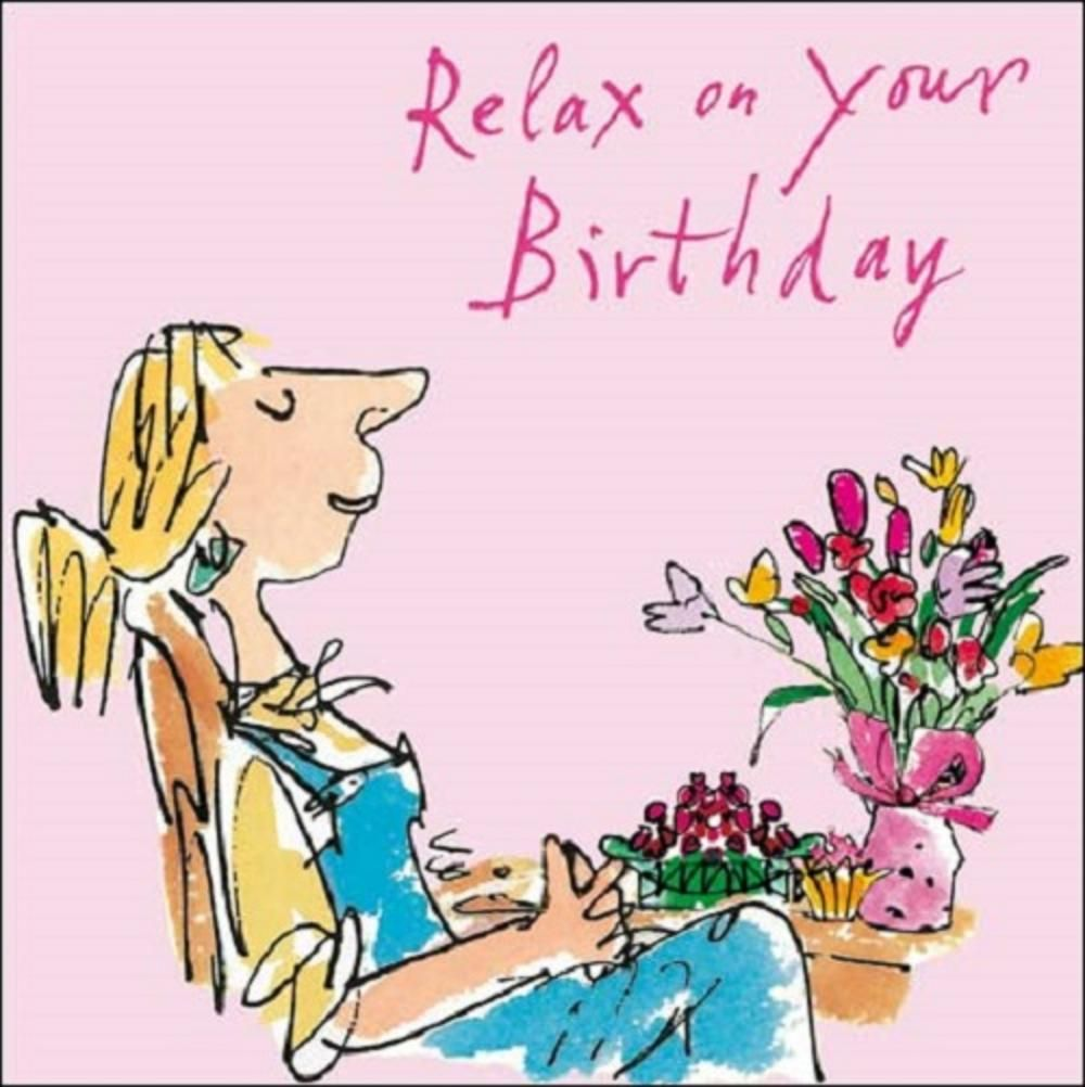 Cats Happy Birthday Quentin Blake Greeting Card In 2020