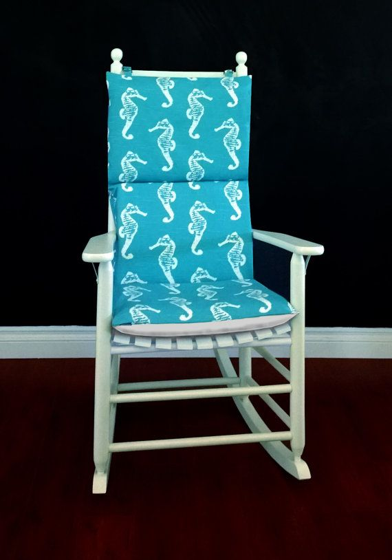 Seahorse Rocking Chair Cushion Cover Inserts Childs Nursery Room – Etsy Chair Cushions