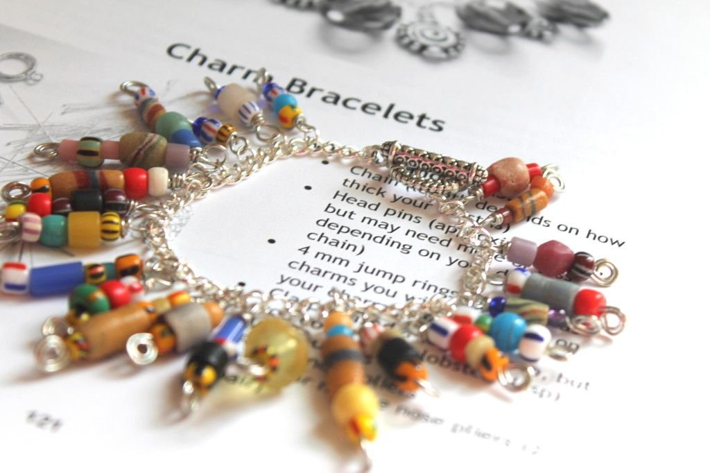 Wire Wrapping for Beginners Day 13: Charm Bracelets. I\'m working my ...