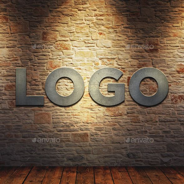 Pin By Best Graphic Design On Mockup Wall Logo Brick