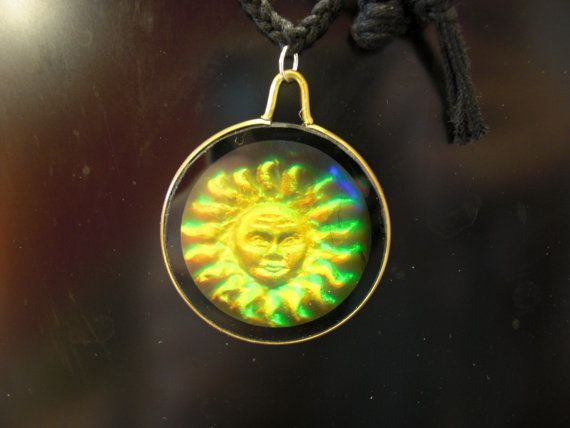 Holographic sun pendant necklace thesimplerenegade pinterest holographic sun pendant necklace mozeypictures Image collections