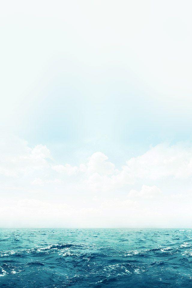 Ocean Green Sky Blue Parallax Hd Iphone Ipad Wallpaper Iphone