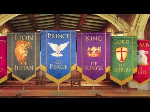 Church Banners Names Of Christ From Praisebanners Youtube Church Banners Designs Church Banners Church Decor