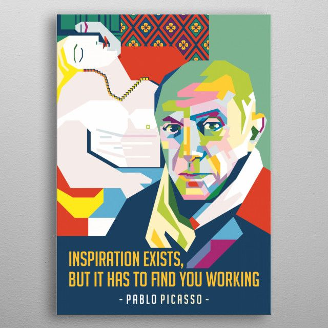 pablo picasso by ICAL SAID WPAP | metal posters - Displate | Displate thumbnail