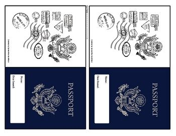 World passport cultures around the world trip ticket for Printable passport template for kids