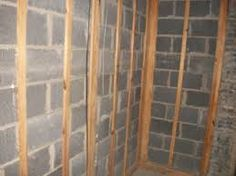 Basement Wall Framing how to install furring strips to concrete basement walls - http