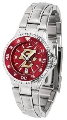Boston College Eagles Women's Stainless Steel Dress Watch by SunTime. $88.95. Officially Licensed Boston College Eagles Women's Stainless Steel Dress Watch. Stainless Steel. Links Make Watch Adjustable. Water Resistan. Women. Boston College Eagles Women's stainless steel watch. This Eagles dress watch with rotating bezel color-coordinated to compliment your favorite team logo. The Competitor Steel utilizes an attractive stainless steel band. Perfect for any occasio...