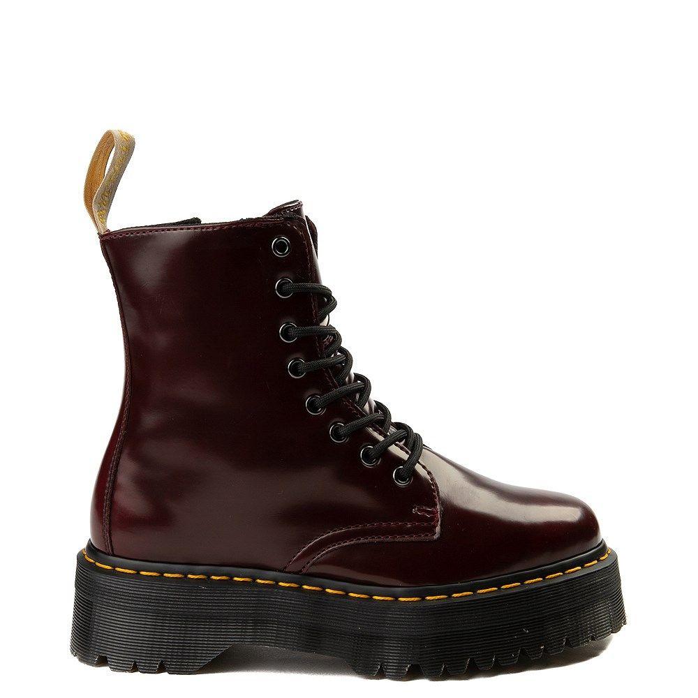 Dr Martens Jadon Vegan Boot Burgundy In 2020 Vegan Boots Boots Martens
