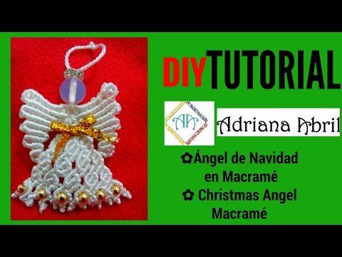 How to Make Macrame ANGEL Decoration - YouTube