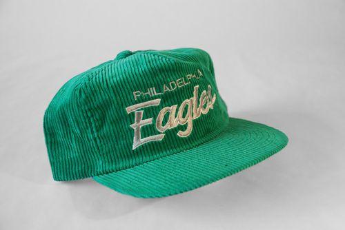 Vintage Philadelphia Eagles Sports Specialties Corduroy Script Snapback Hat  Cap  715edef55cf6