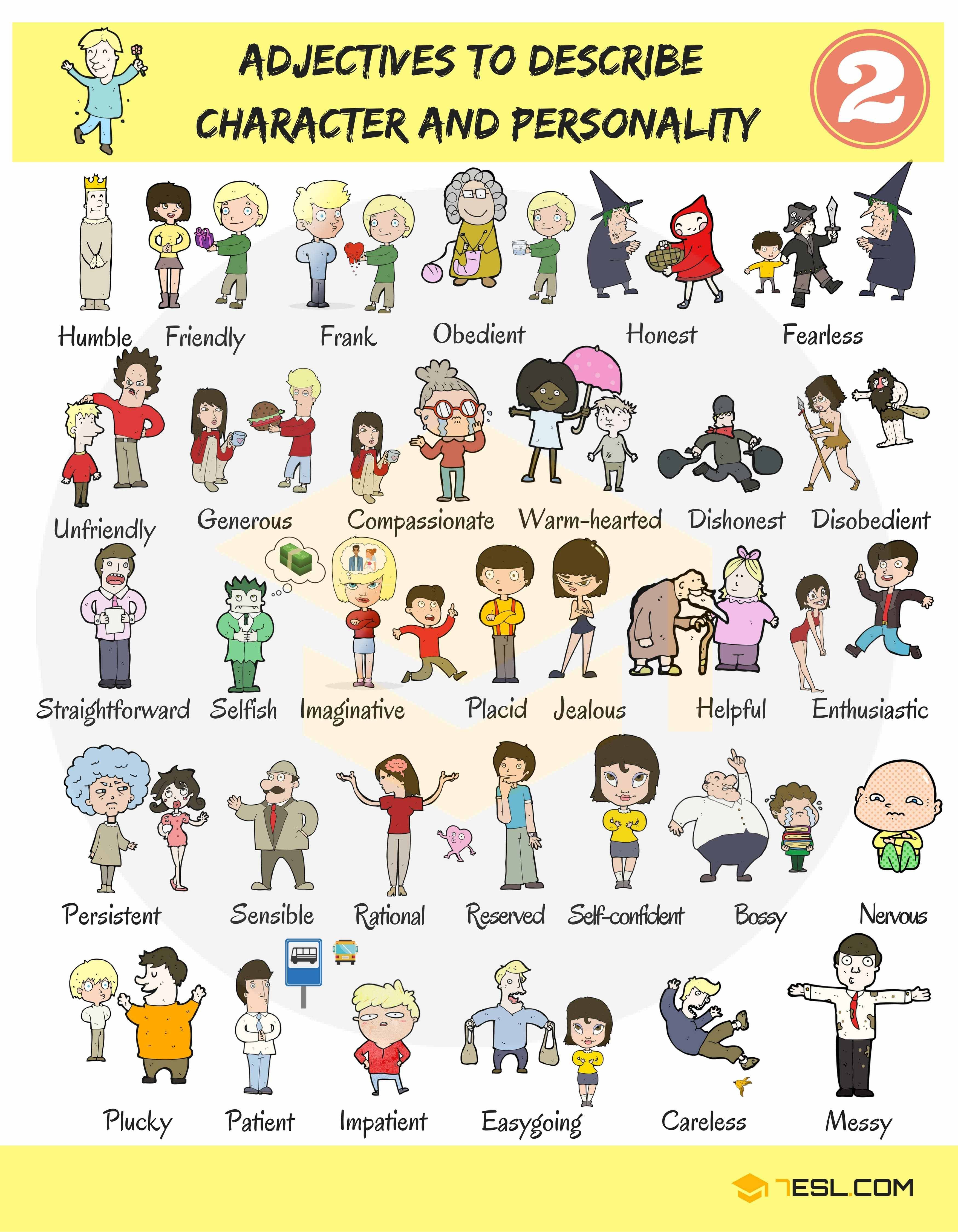 English Adjectives For Describing Character And Personality