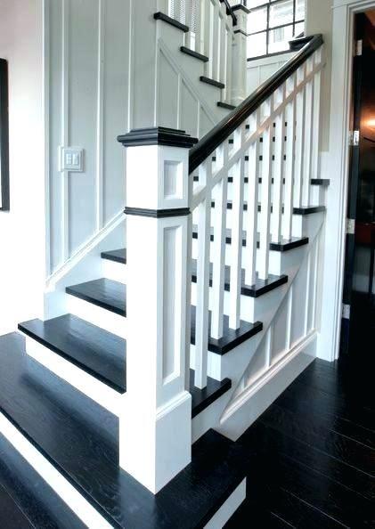Best Stairway Post Stair Newel Post Two Tone Stairs Best Newel 400 x 300