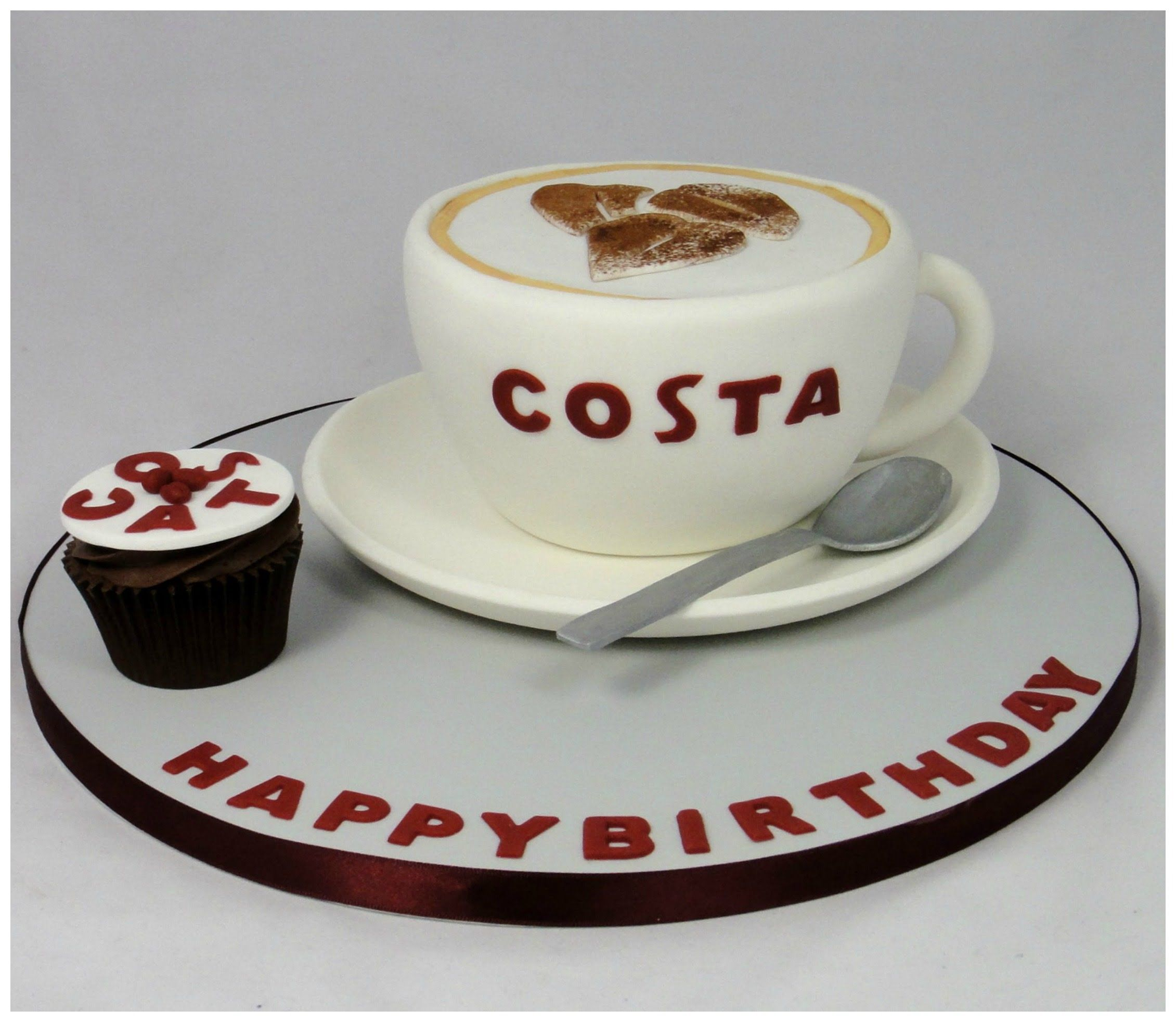 Stupendous How To Make A Costa Coffee Cup Novelty Cake Fondant Tutorial Funny Birthday Cards Online Kookostrdamsfinfo