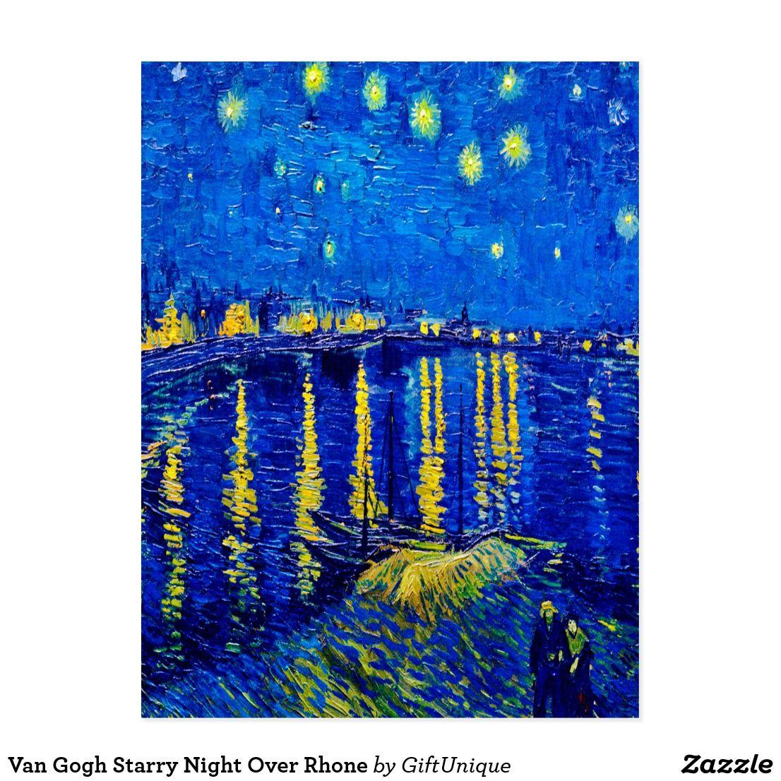 Van Gogh Starry Night Over Rhone Postcard |