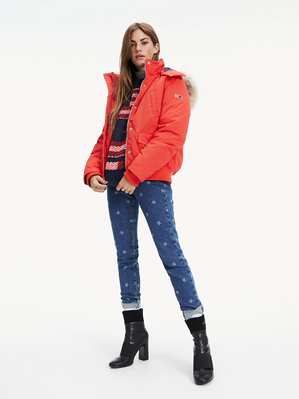 Hooded Down Bomber Jacket Red Tommy Hilfiger Outerwear Jackets Jackets Women S Coats Jackets [ 1333 x 1000 Pixel ]