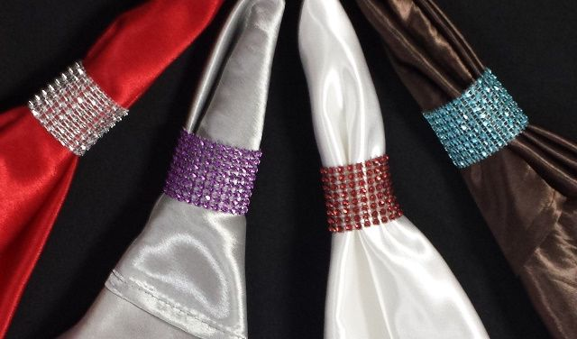 Napkin Bling Rings are available for purchase.   Available colours: Silver, Red, Blue, and Purple.   NOW AVAILABLE IN GOLD!    100 pieces for $39.00  Place your order today!