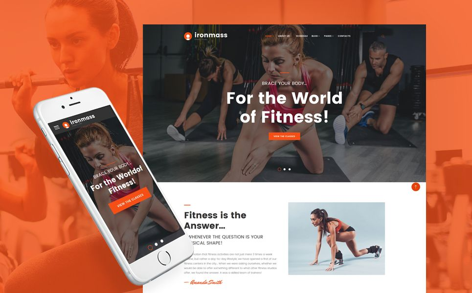 Ironmass Fitness Center Website Template Fitness