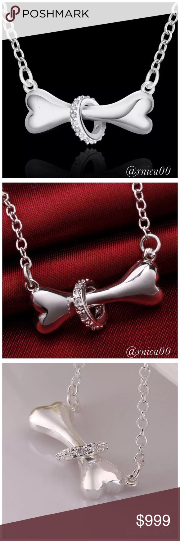 """✨Coming Soon-Silver Dog Bone & Crystal Necklace! Details Soon!  ➖Prices Firm, Bundle for 20% Discount ➖""""Trade"""" & Lowball Offers will be ignored ➖Sales are Final, Please read Description & Ask Any Questions! Boutique Jewelry Necklaces"""