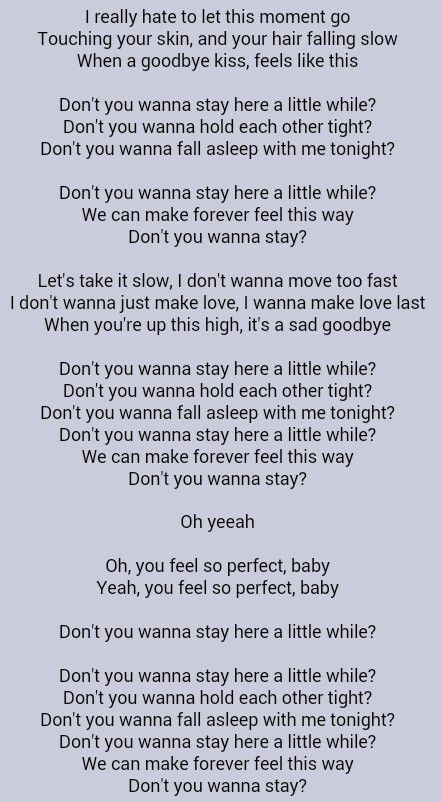 Jason Aldean Don T You Wanna Stay Jason Aldean Lyrics Country Music Quotes Country Music Lyrics