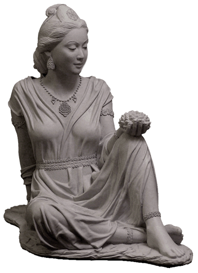 Quan Yin Goddess Of Compassion And Mercy With Lotus Outdoor Statue For  Sale, Front View