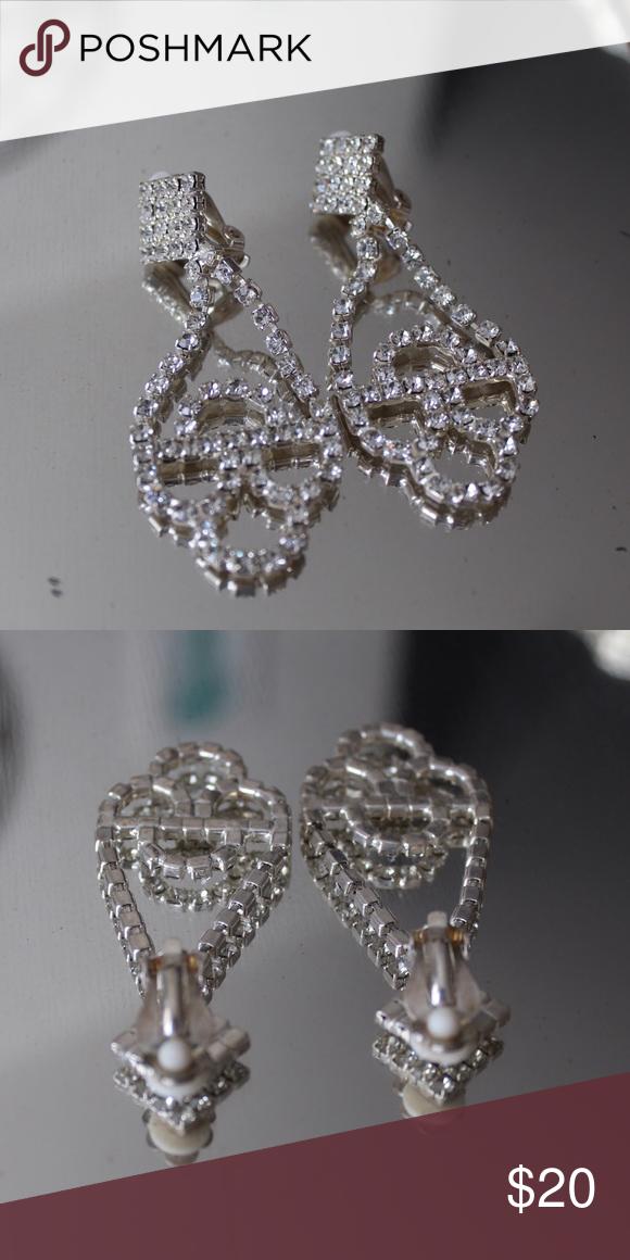 Earrings Sparkly Chandelier Earrings (clamp backing) Jewelry Earrings
