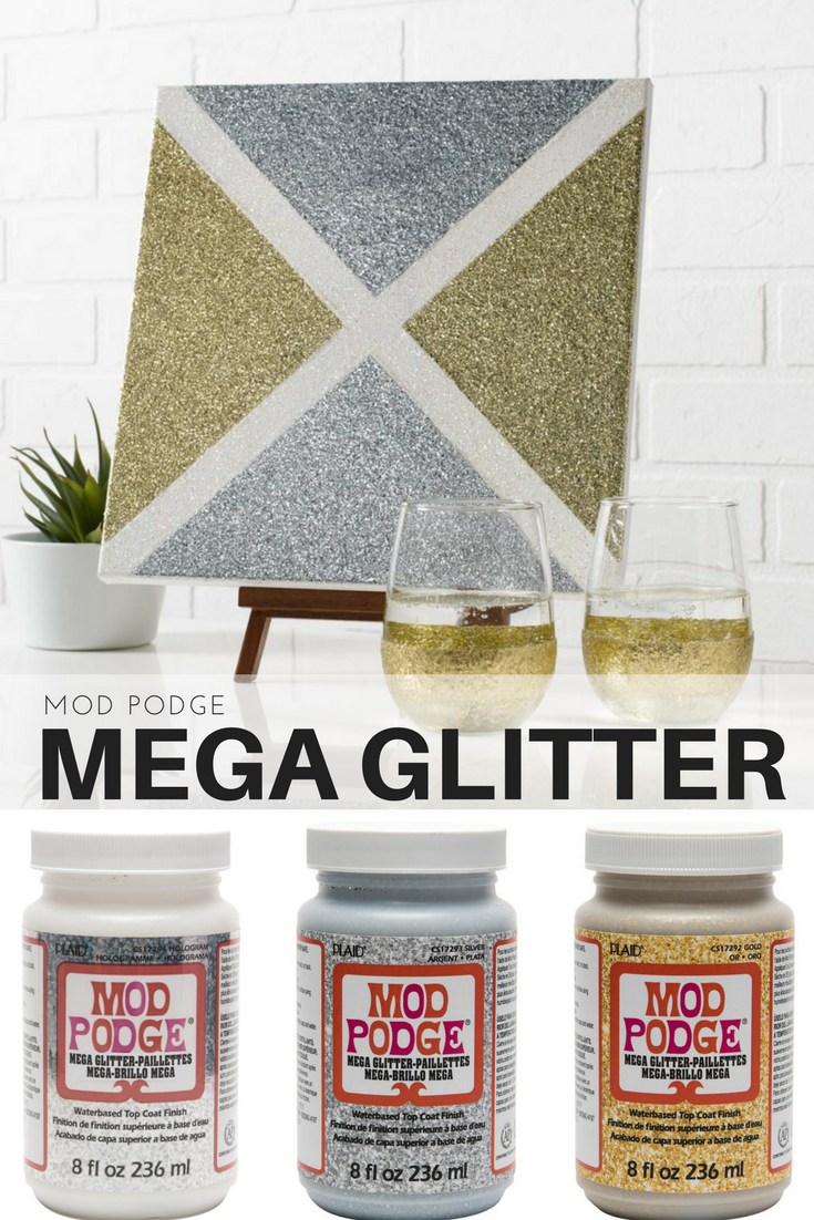 New for 2108 Mod Podge MEGA GLITTER. Mod Podge Mega