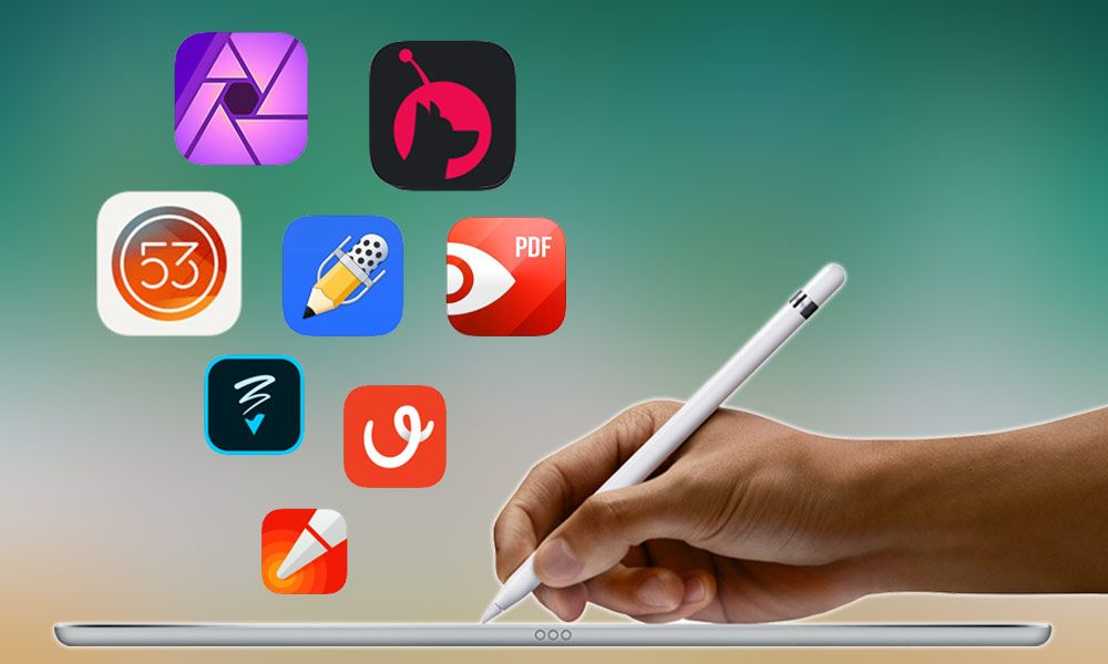 10 Best Apps For Apple Pencil And Ipad Pro Users Of 2017 Apple Pencil Apps Ipad Pro Apple Pencil Ipad