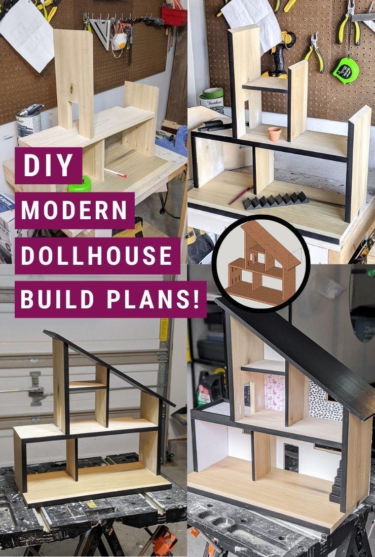 DIY Modern Wooden Dollhouse—Free Plans