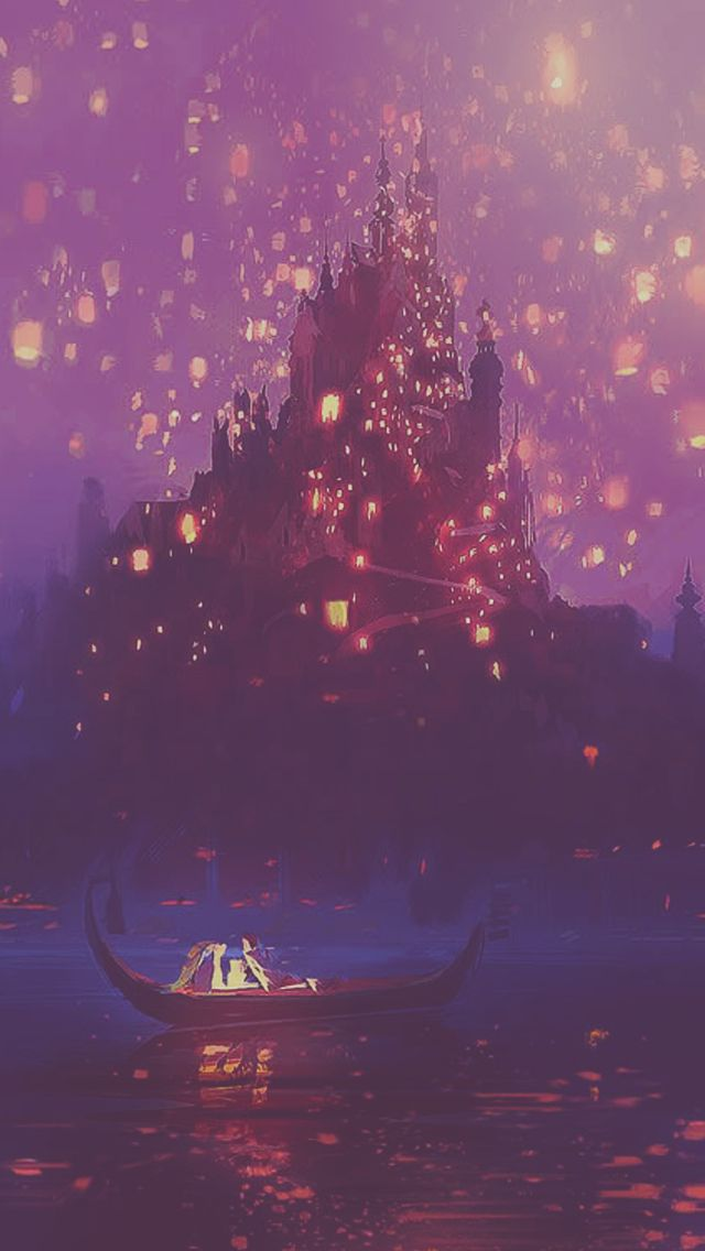 Rapunzel And Thomas Kinkade Lanterns The Boat Iphone 5