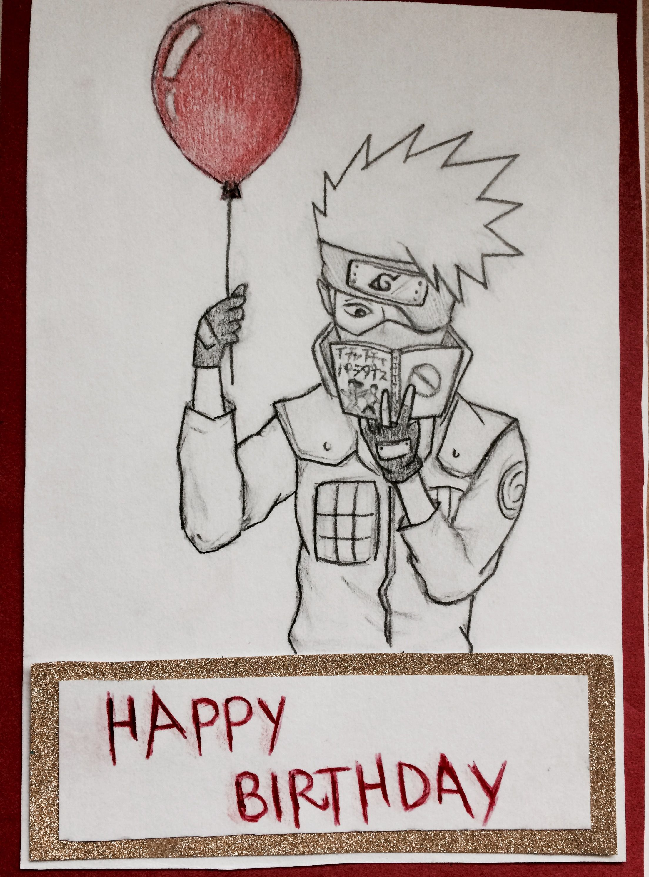 Kakashi Birthday Card Birthday Cards Happy Birthday Cards