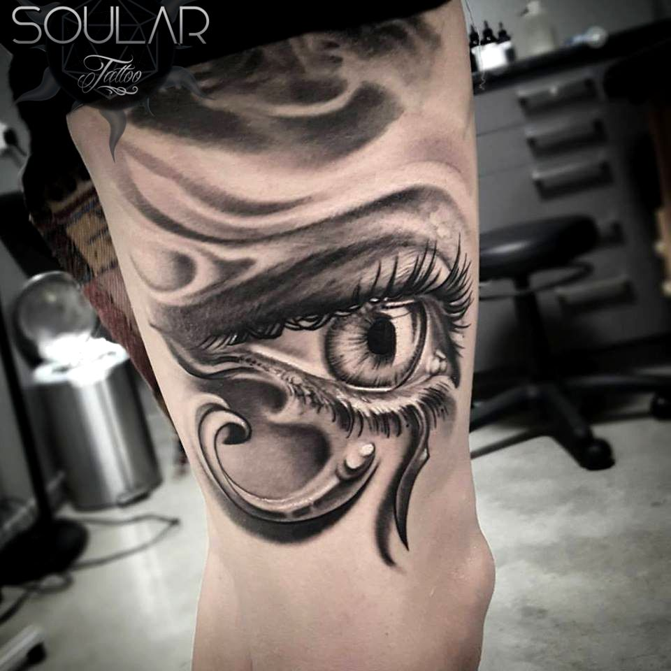 Eye Of Horus Tattoo By Matt Parkin Art Soular Tattoo Christchurch Nz Egyptian Eye Tattoos Horus Tattoo Eye Tattoo