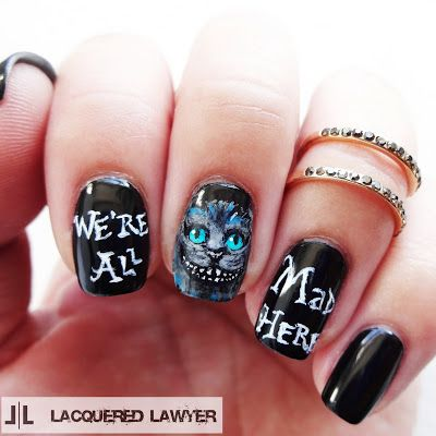 Lacquered Lawyer Nail Art Blog We Re All Mad Here