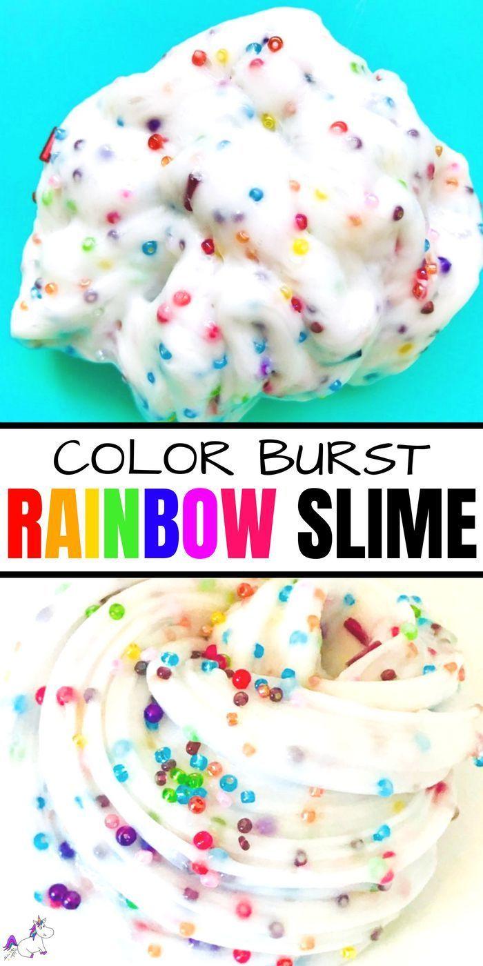 Rainbow Slime #rainbowcrafts