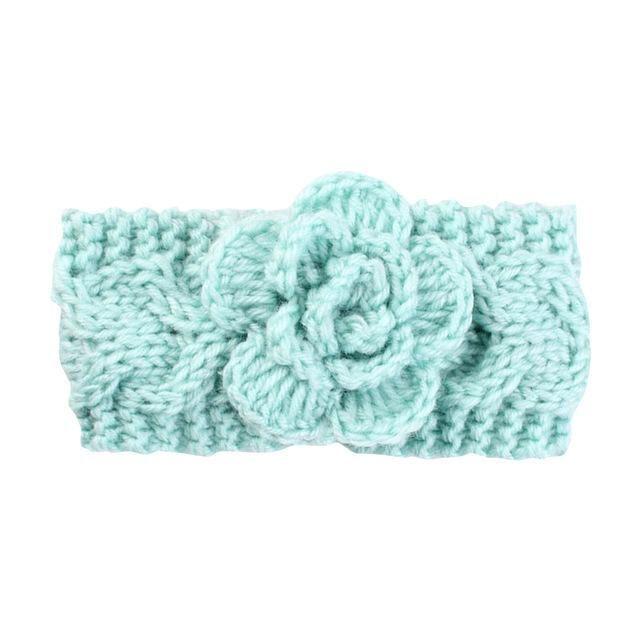 15f4dbbf01c5 Baby Headband Kids Infants Warm Wool Crochet Birthday Party Headband ...