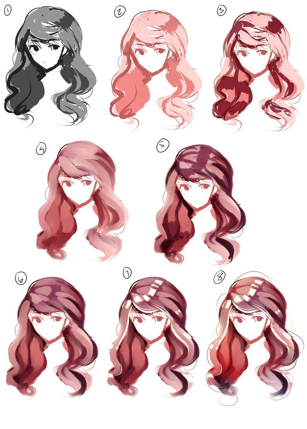 Hair Paint Tutorial Digital Painting Tutorials How To Draw Hair Hair Painting