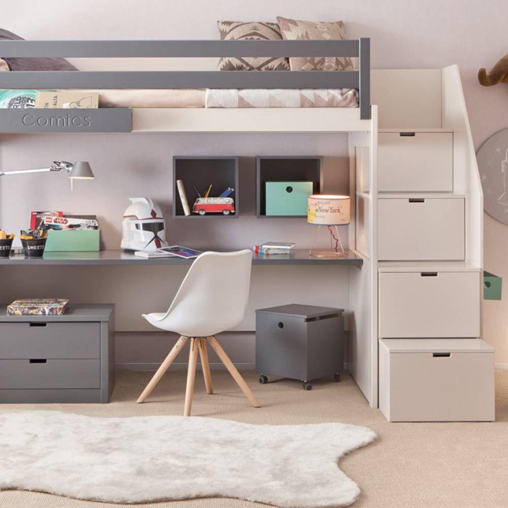 Loft bed ideas girls  Lit mezzanine KSL Living  Maélie  Pinterest  Lit mezzanine