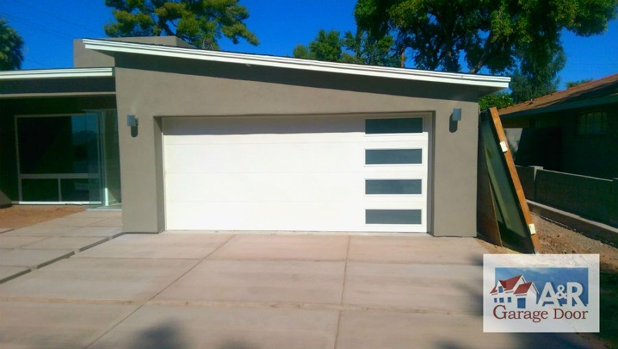 Phoenix Modern Custom Garage Door Installation Design