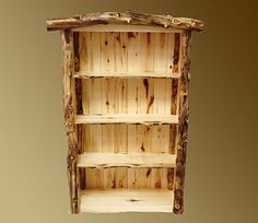 Aspen Grizzly 3 Shelf Bookcase from Log Furniture Co!